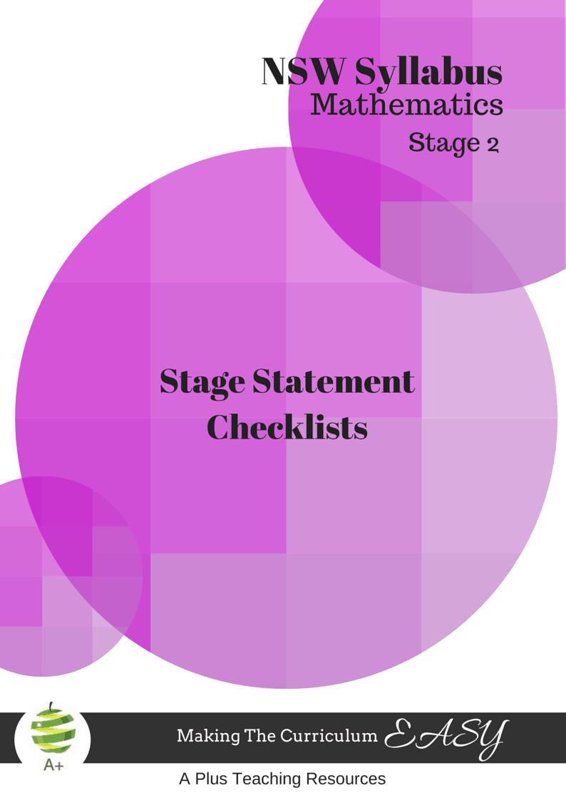 NSW Stage Statement Mathematics Stage 2