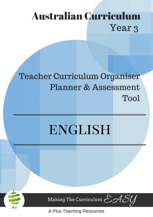 Y3 Teacher Organiser, Planner & Assessment Tool - ENGLISH
