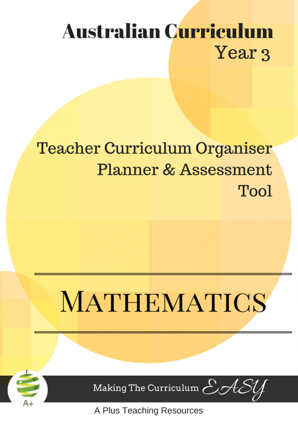 Teacher curriculum Organiser Year 3 Maths