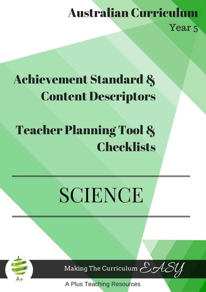 Y5 Editable Science Checklists