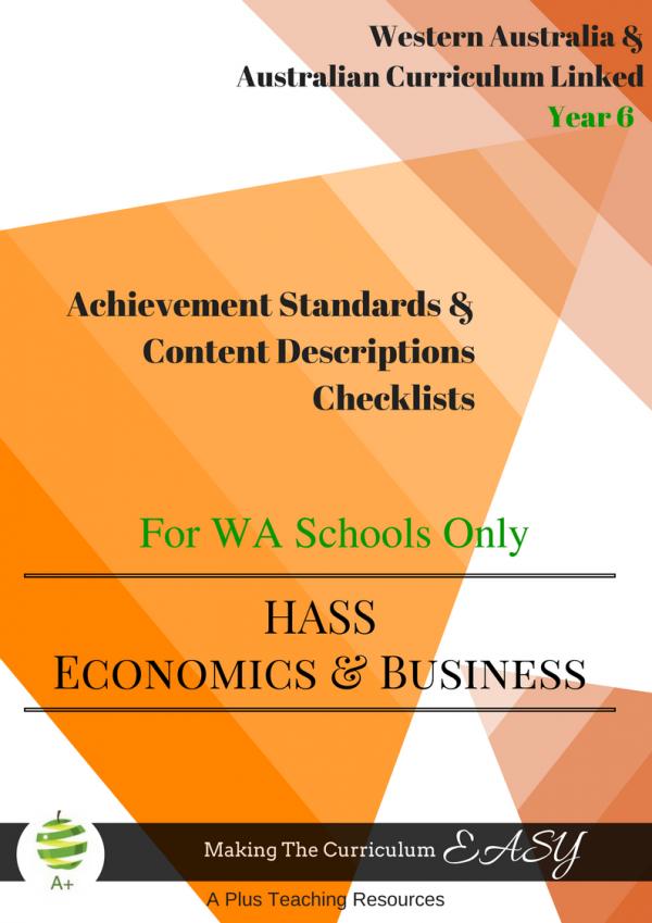 Economics and business WA year 6