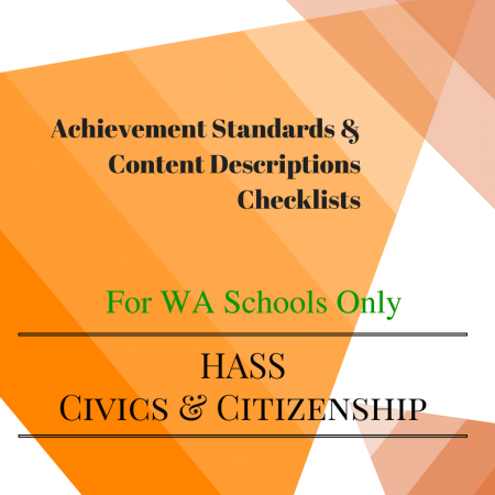 Civics & Citizenship Checklists WA Year 6