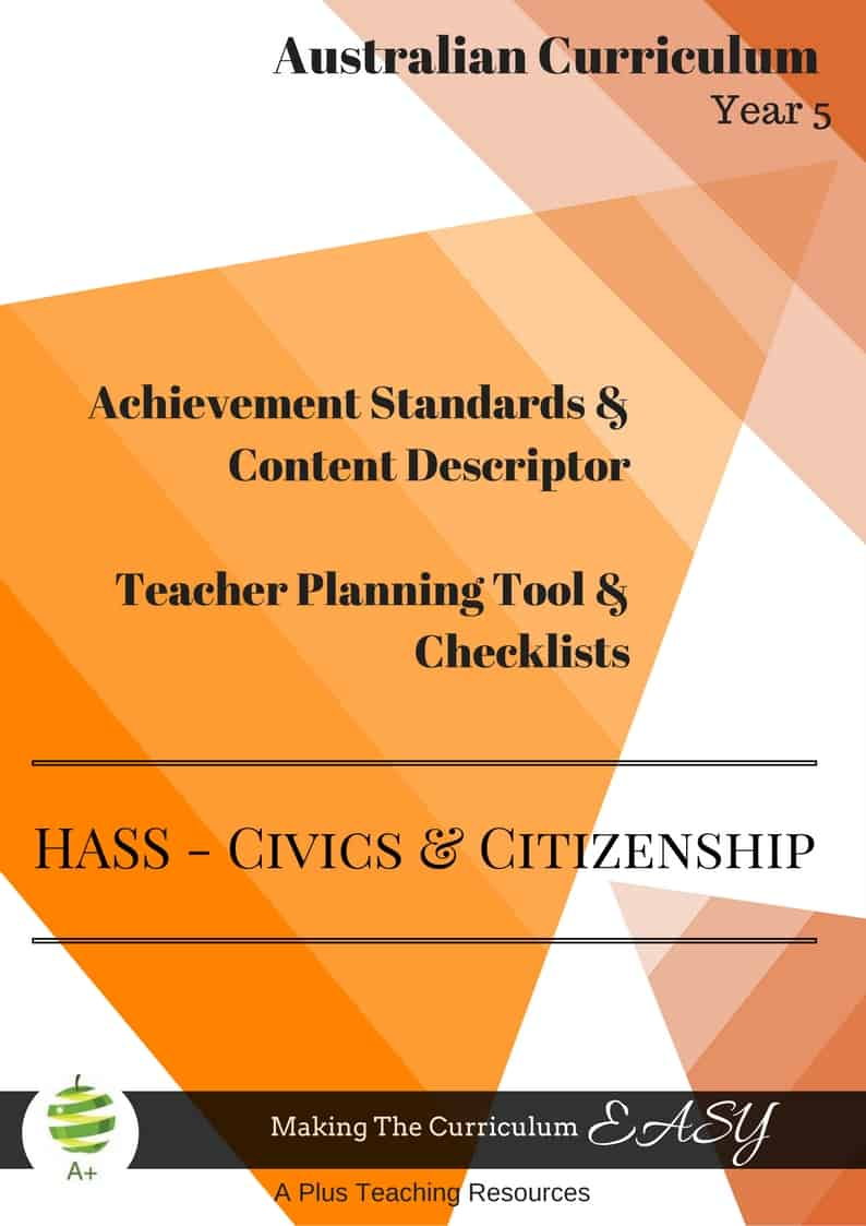Y5 Editable HASS- Civics & Citizenship