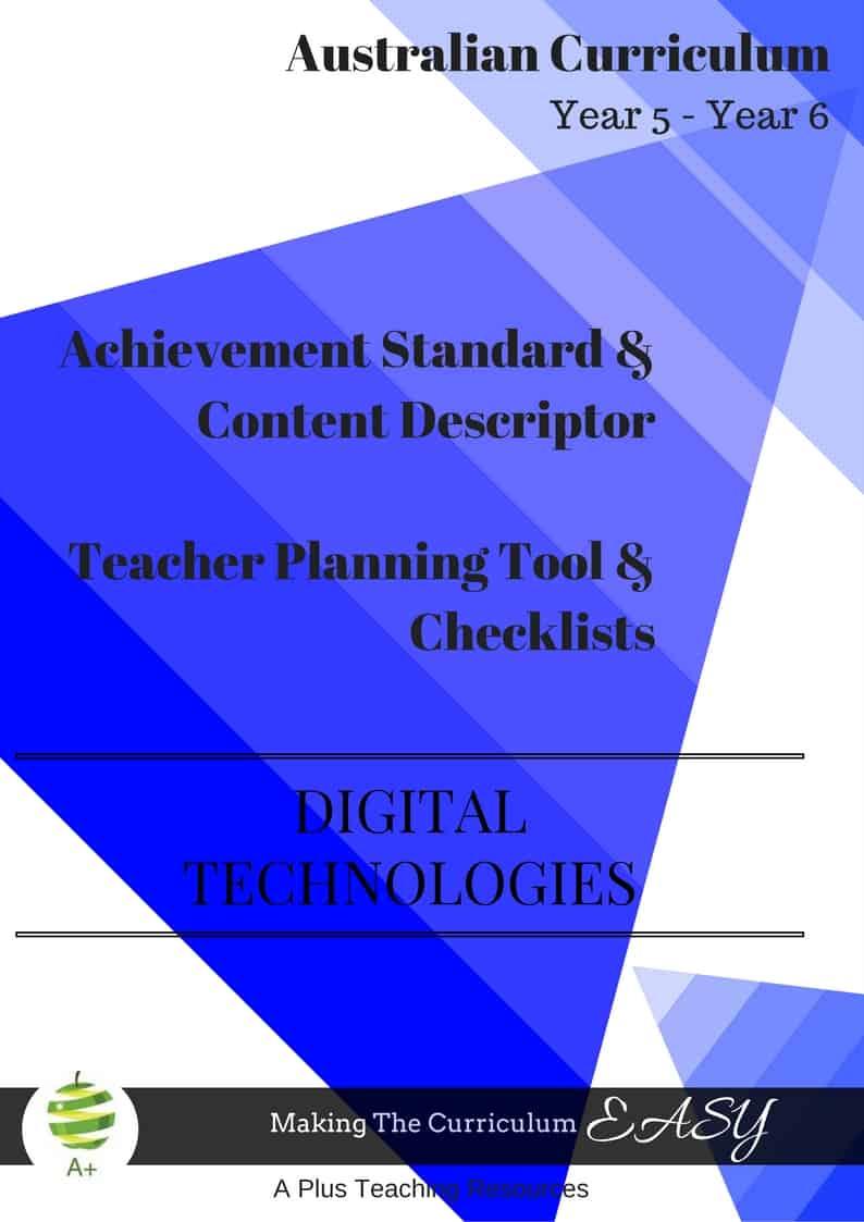 Y5 - Y6 Editable DIGITAL Technologies
