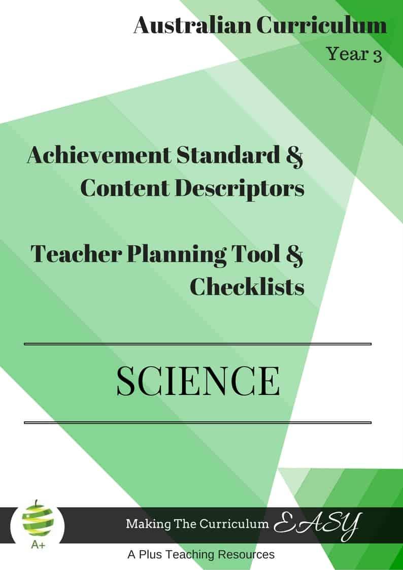 Y3 Editable Science Checklists