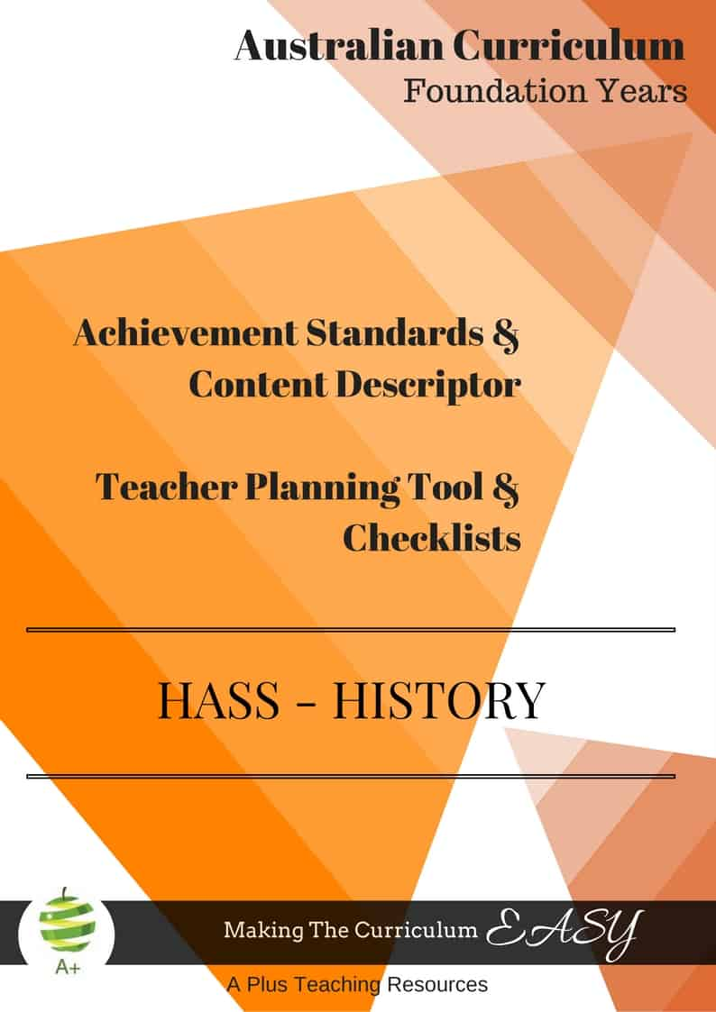 HASS- HISTORY Checklists- Foundation