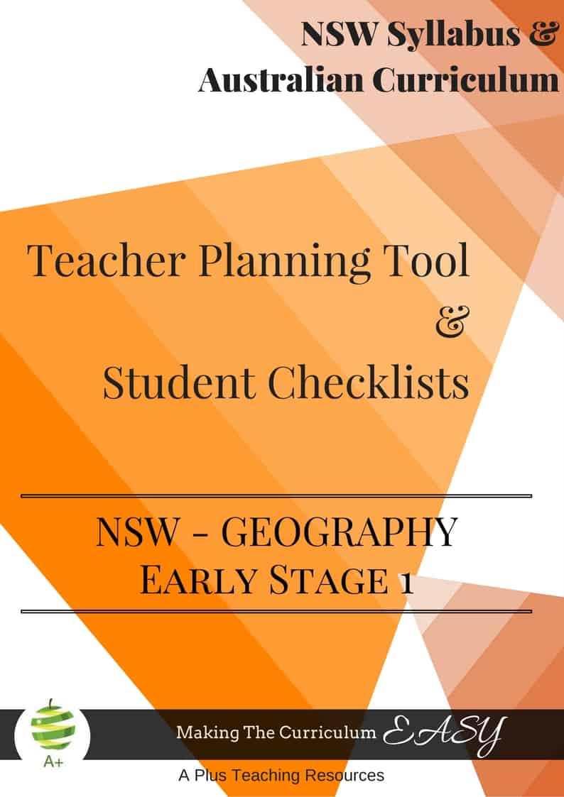 NSW Geography Early Stage 1 Checklists