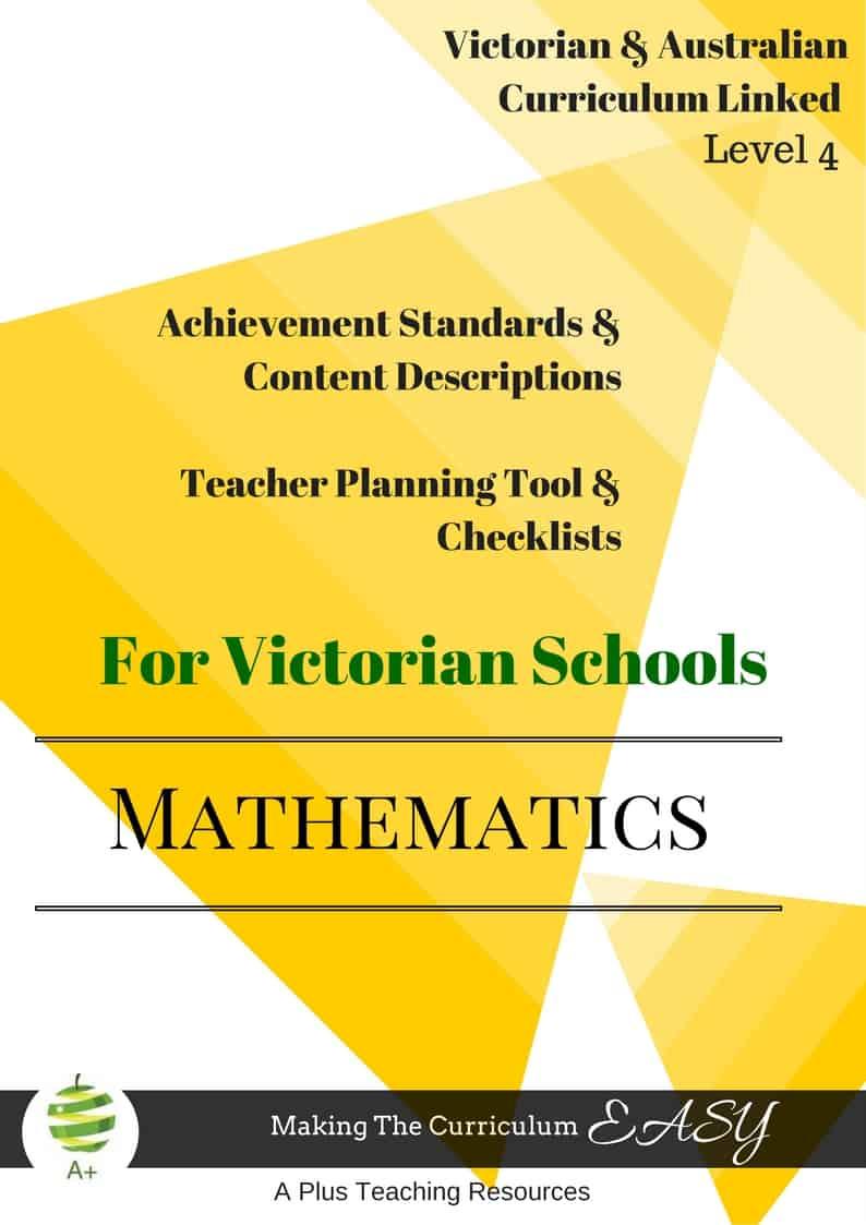 Victorian Curriculum Maths Level 4