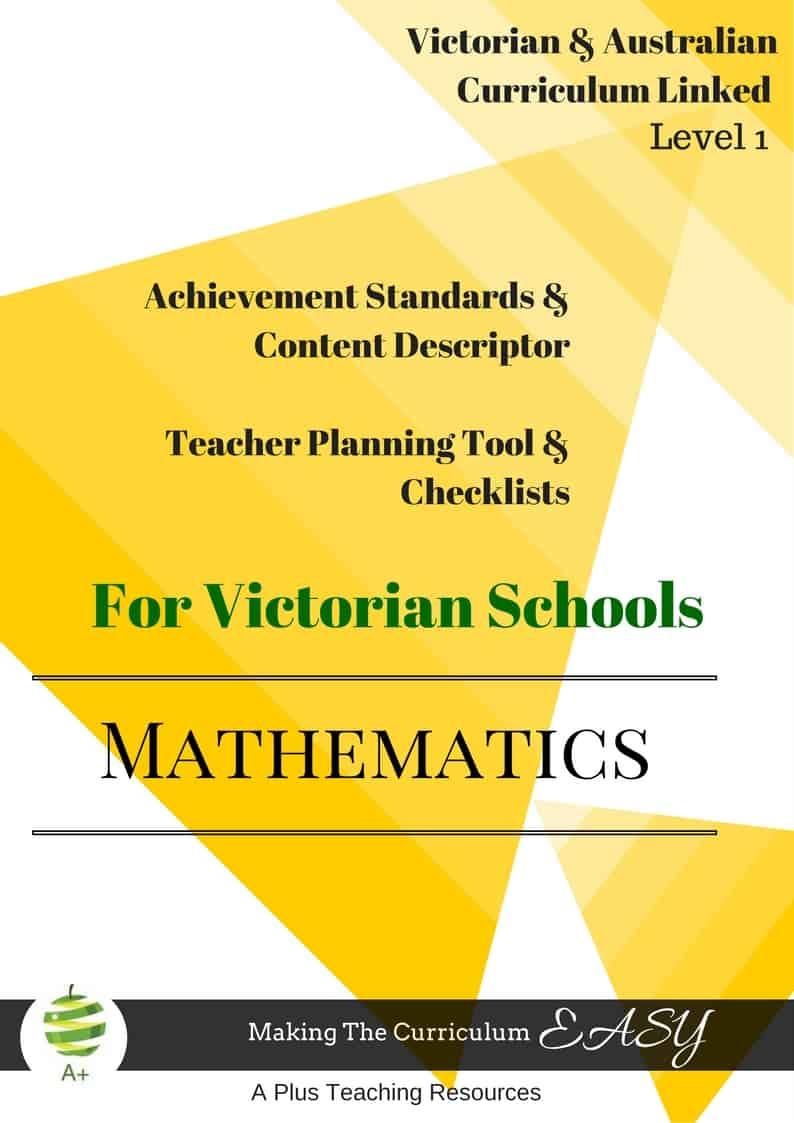 Level 1-editable-maths-checklists-victorian