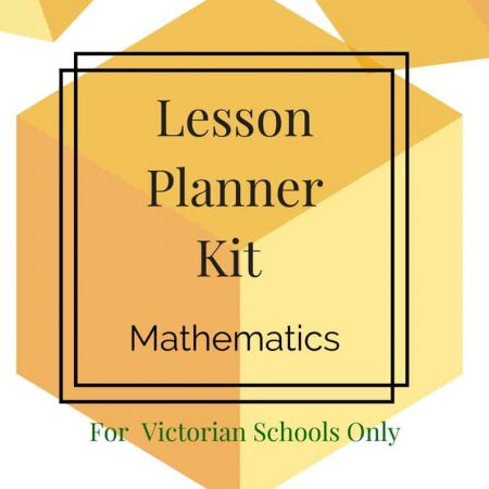Lesson Planner - Maths - Foundation -Victorian Curriculum