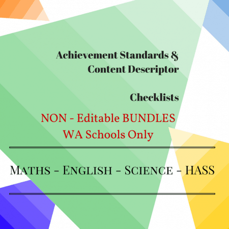 WA - NON Editable Bundles -Y3