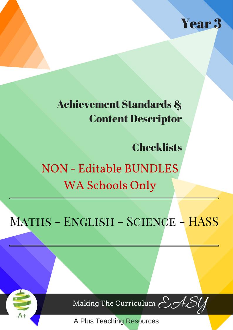 WA - NON Editable Bundles -Y3