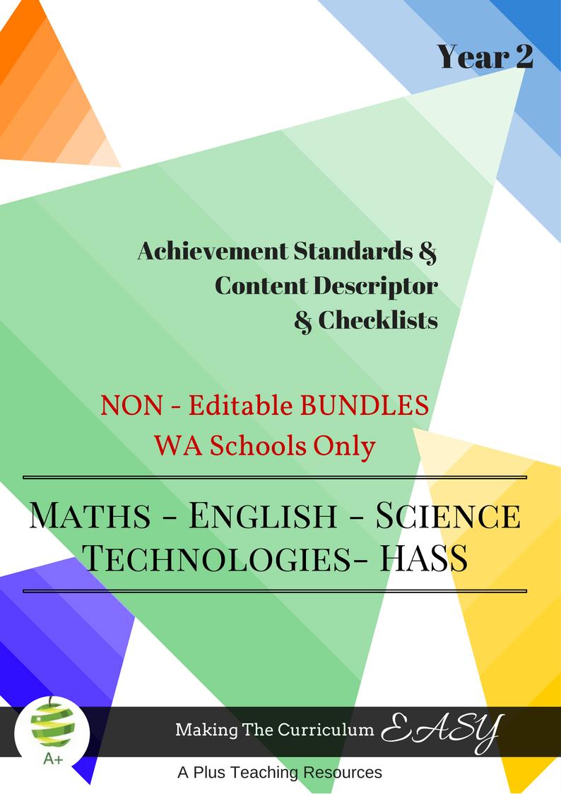 WA - NON Editable Bundles -Y2