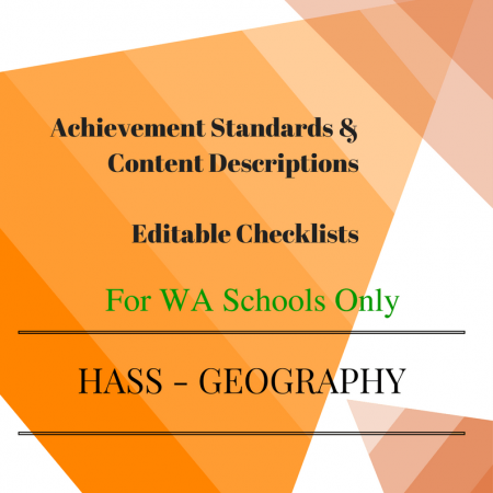 WA HASS Geography -Year 1 Checklists