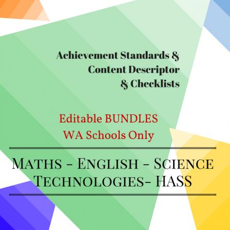 WA - Editable Bundles -Y4