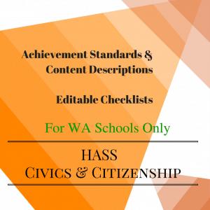 WA HASS Civics -Y 4 Editable