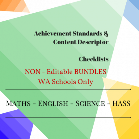 WA - NON Editable Bundles -Y4