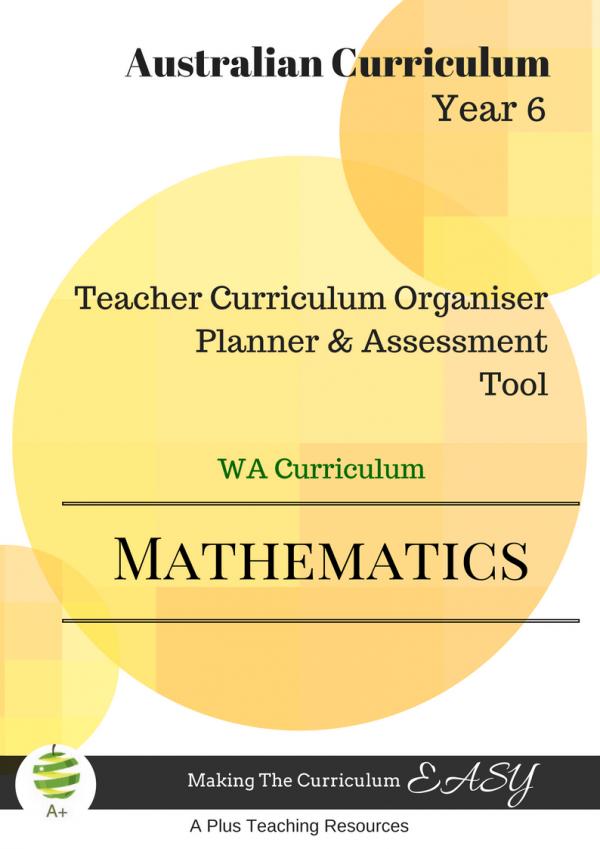 Maths Organiser WA Y6