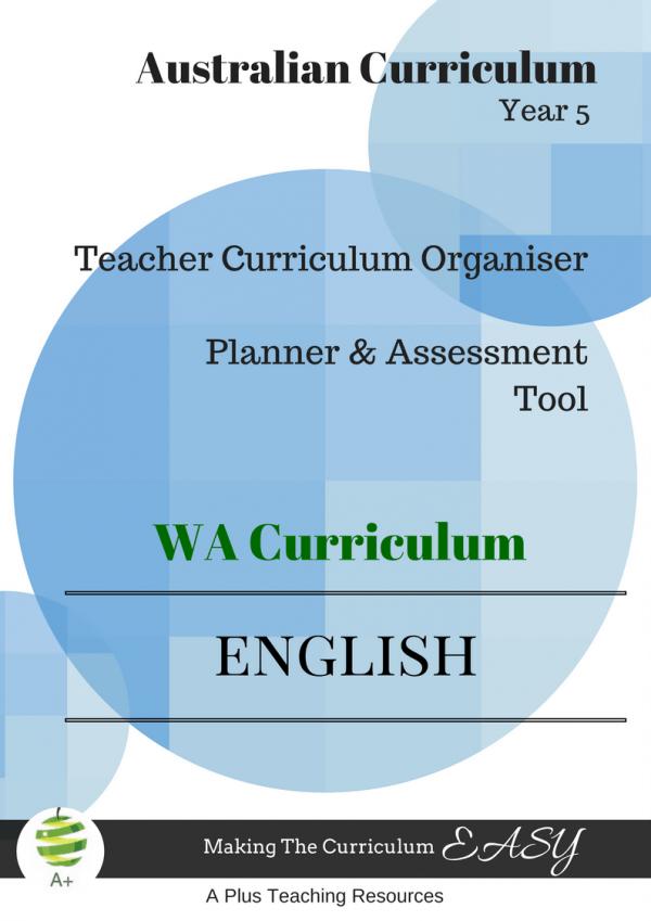 Year 5 English Organiser WA