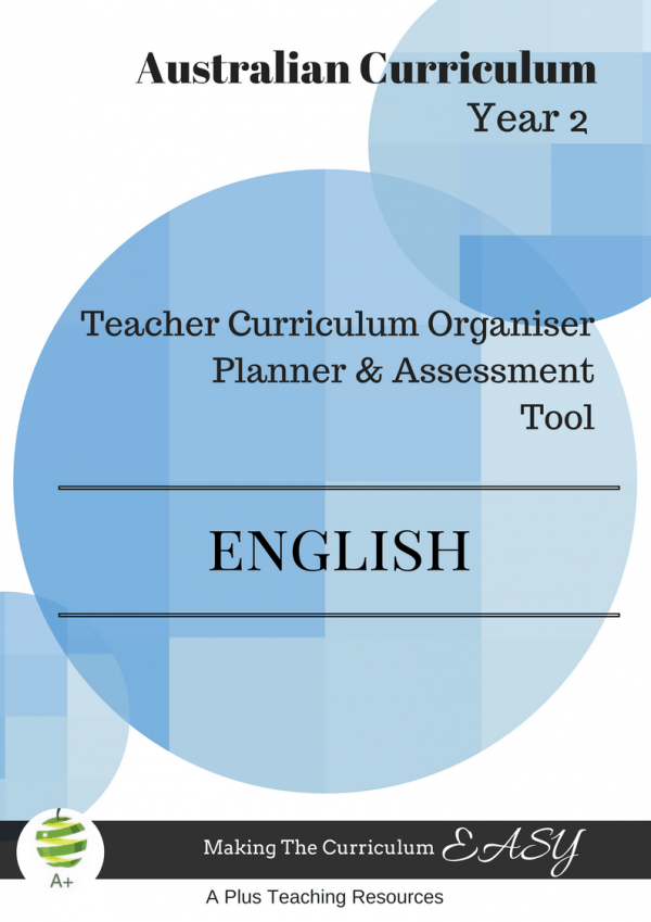 Y2 Teacher Organiser, Planner & Assessment Tool - ENGLISH