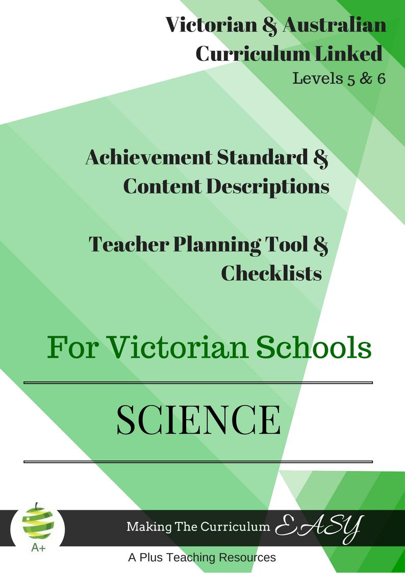 Victorian Curriculum Science Levels 5 & 6