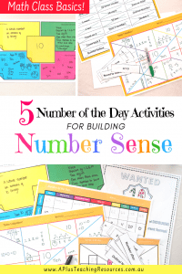 Number Sense Math Activities
