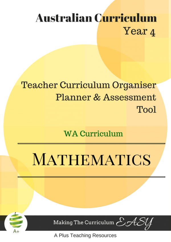 Teacher Organiser Maths Y4