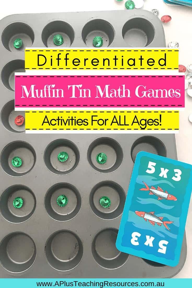 Muffin Tin Math Center Activities
