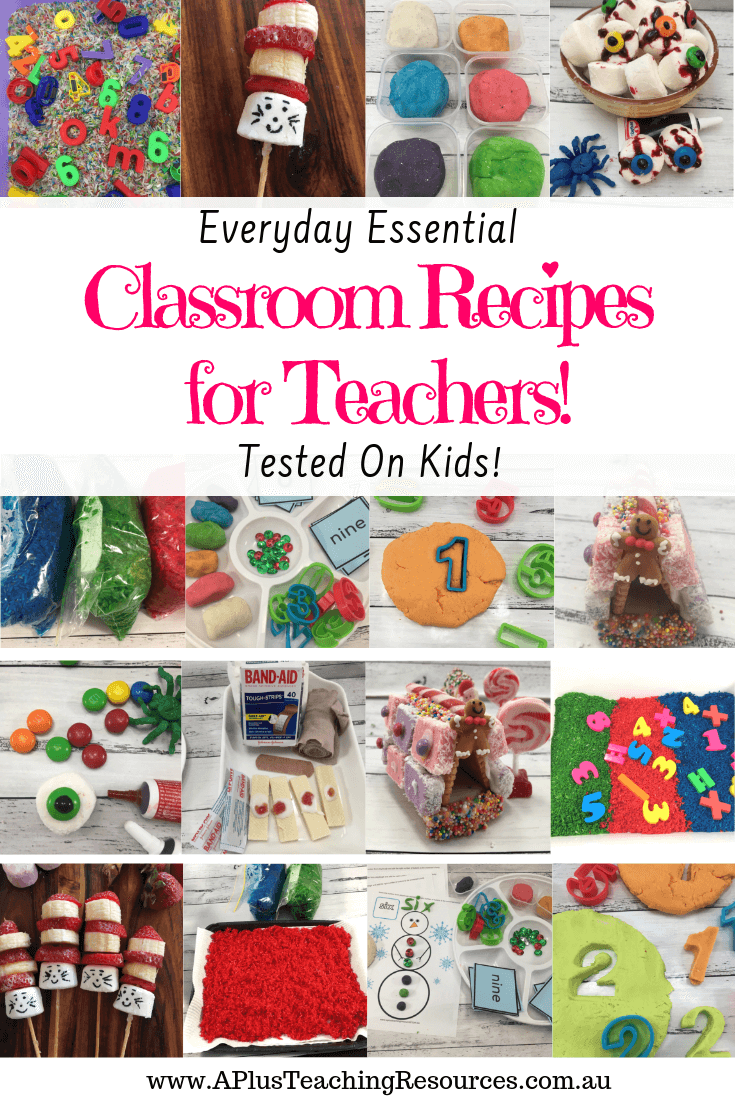 Classroom Recipes for teachers
