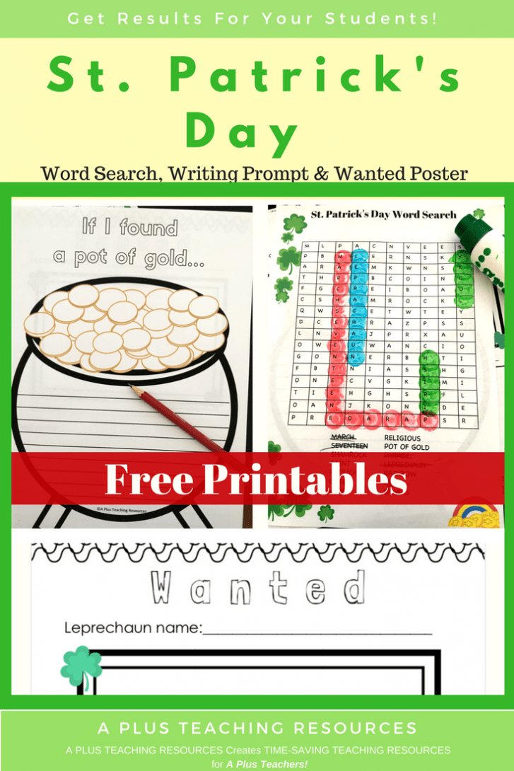Saint Patrick's Day Activities For Kids