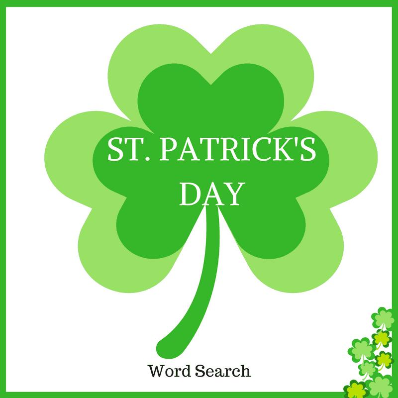 Saint Patricks Day Word Search