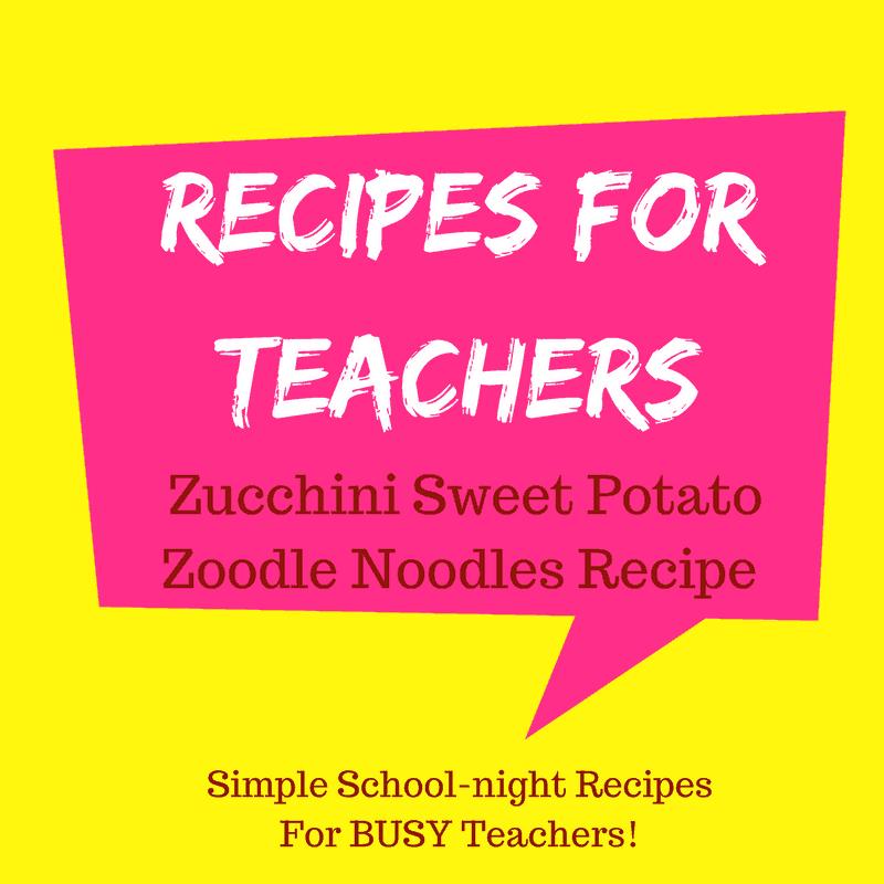Healthy Zucchini Sweet Potato Zoodle Noodles Recipe
