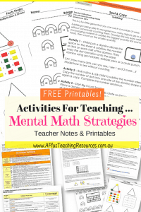 Mental Maths Free Printables