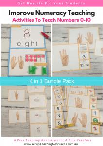 Numbers 0-10 Activities 4 in 1 Bundle pack
