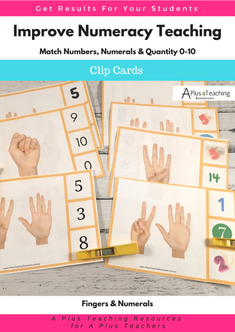 Teaching Number Recognition Activities 0-10 Clip Card math game