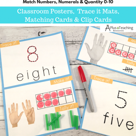 Teaching Numbers, numerals & Quantity Math Games