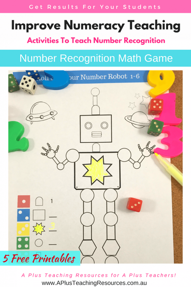 Number Recognition coloring game for kids