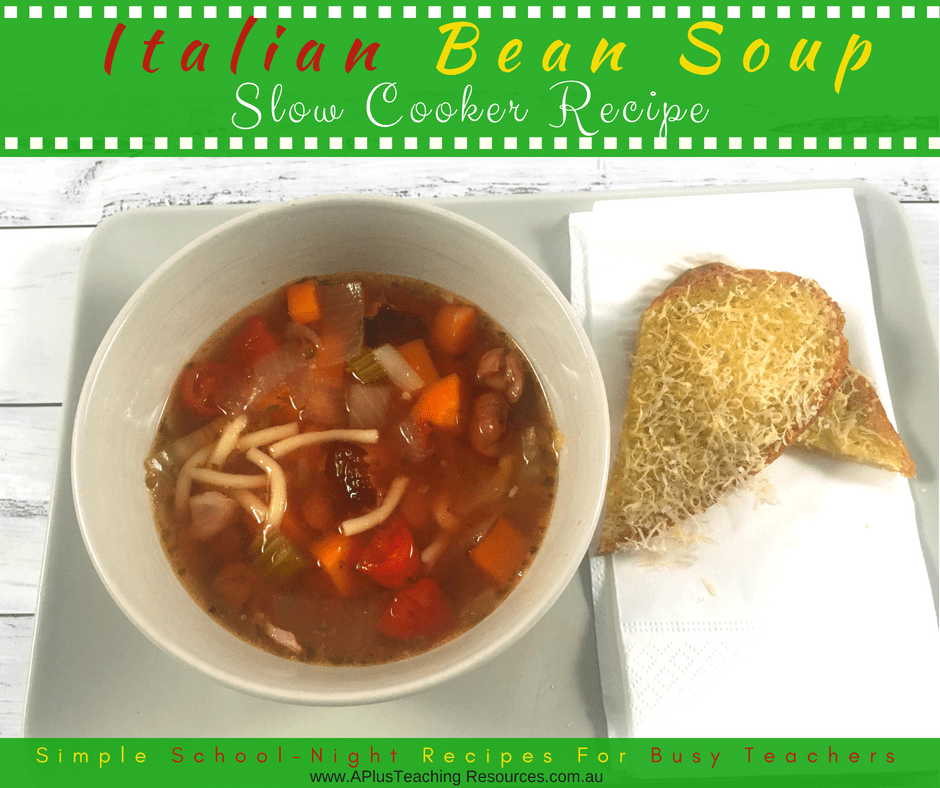 Serve Italian Bean and vegetable soup with bread