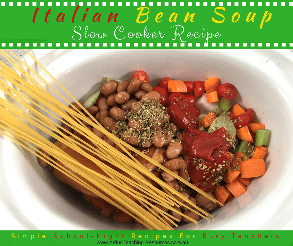Slow Cooker Italian Bean Soup