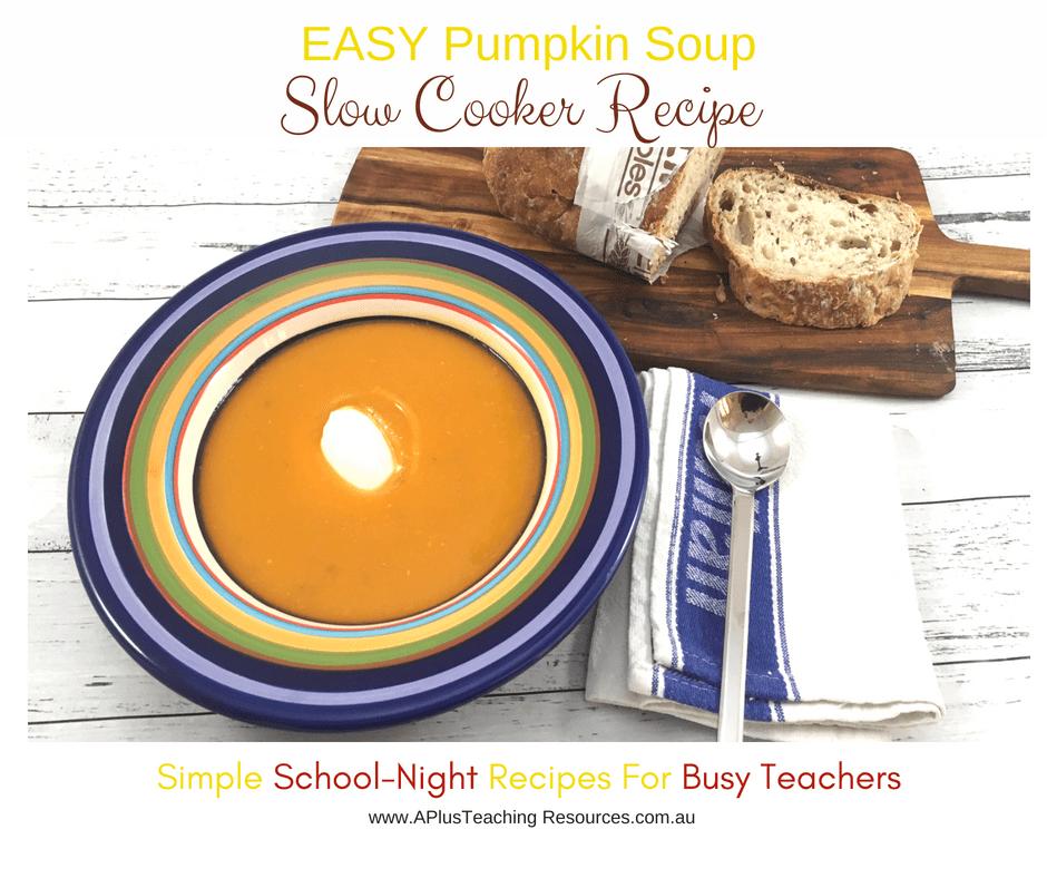 Pumpkin soup with crusty bread