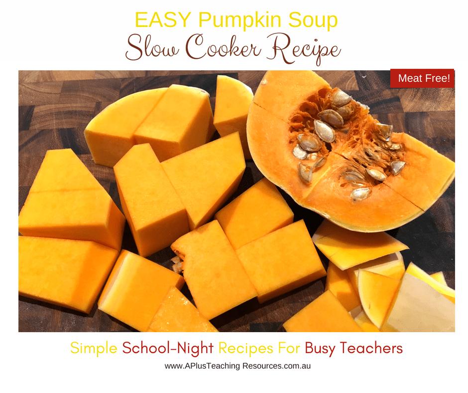 chop pumpkin for soup recipe
