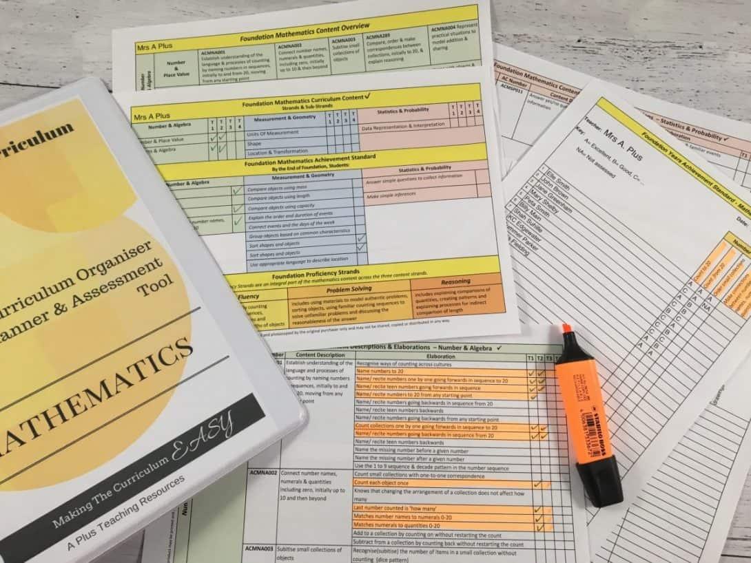Year 6 Australian Curriculum Maths Organiser