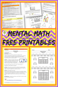 Teaching Mental Maths Freebie