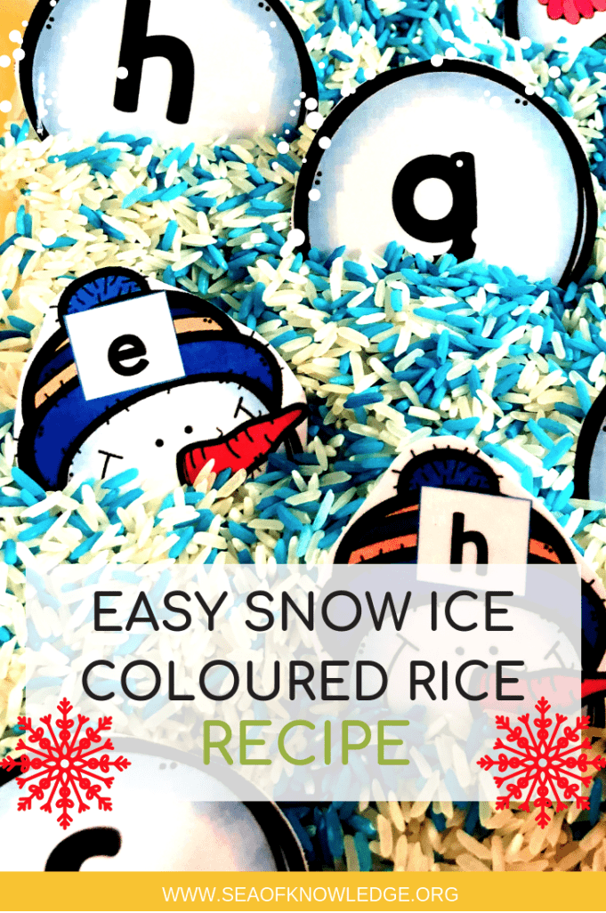 Easy Snow Ice Coloured Rice