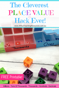 Place Value Dice Activity Hack