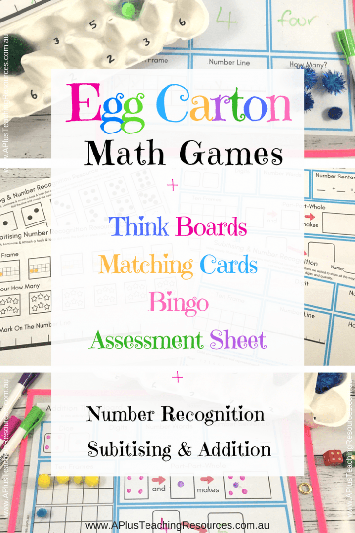 Egg Carton Maths Activities
