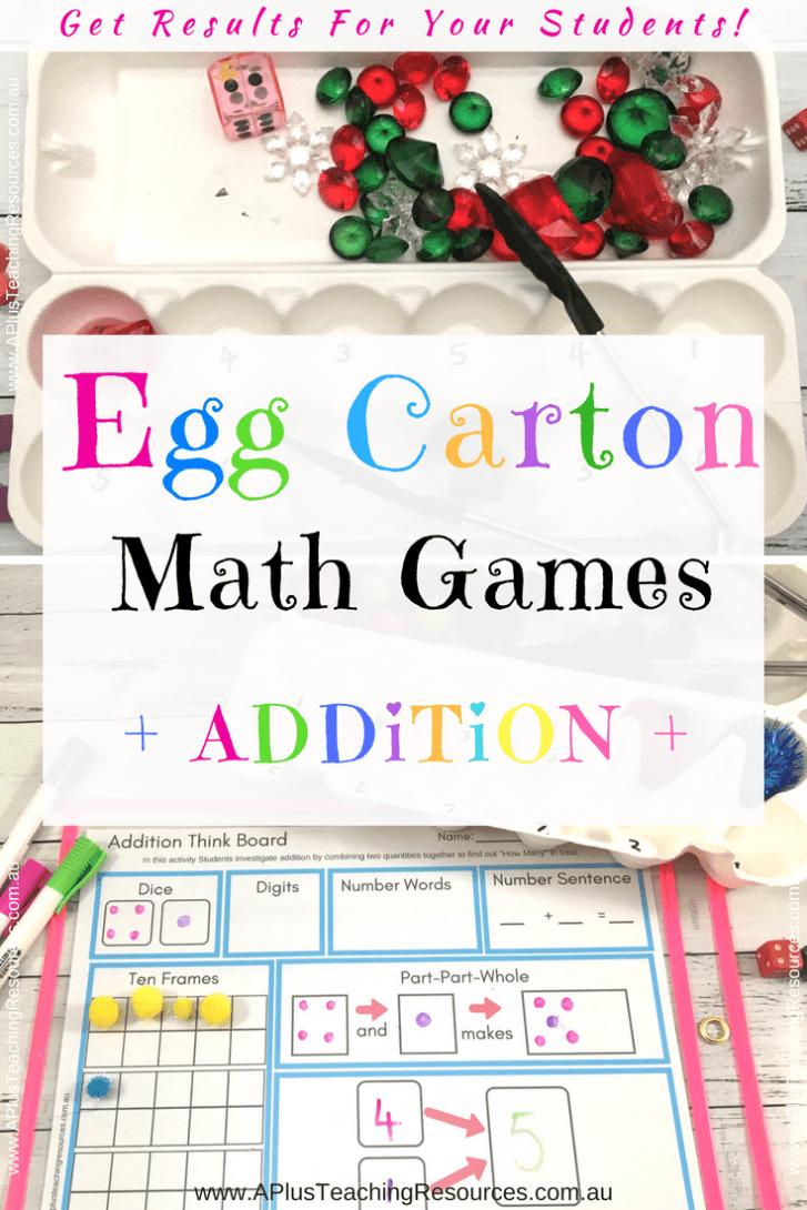 Egg Carton Addition Teaching Ideas