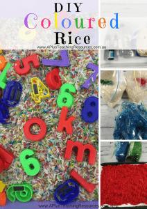 DIY Coloured rice Activity