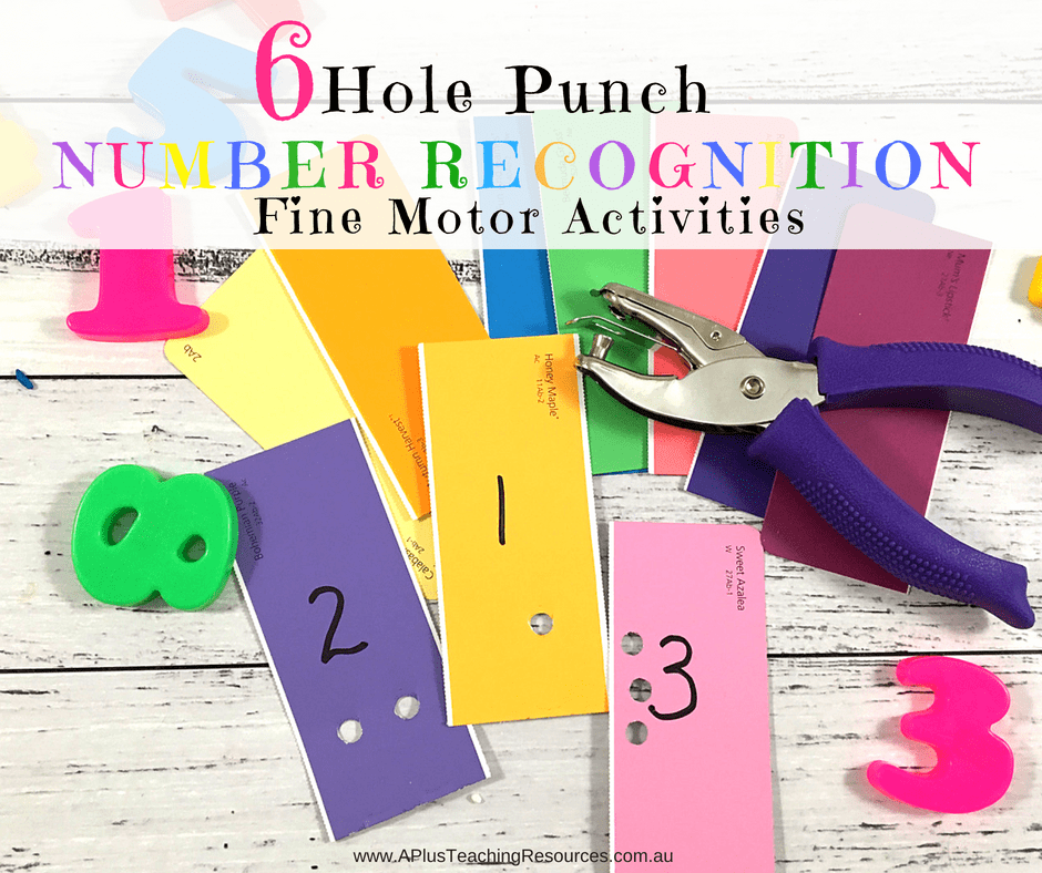 Simple Hole Punch Fine Motor Activities For Teaching Math
