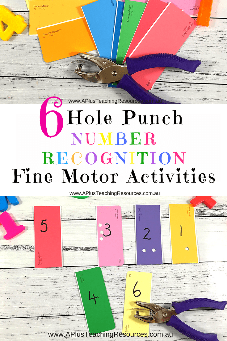 Hole Punch Number Recognition Activities